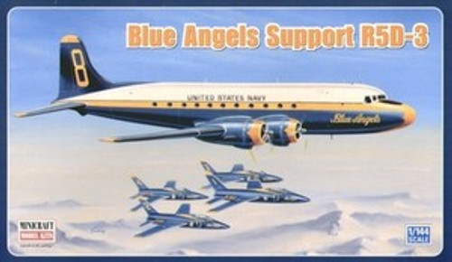 Minicraft BLUE ANGELS SUPPORT R5D3 1/144 SCALE MODEL AIRPLANE KIT 14549