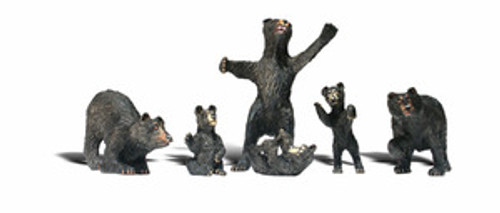 HO Woodland Scenics Black Bears 1885 OL 1