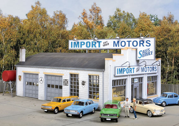 HO Walthers Cornerstone Import Motors KIT 933-4023 OL 1