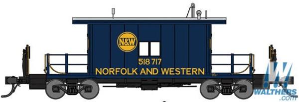 N Bluford Shops Steel Transfer Caboose Norfolk & Western 23091 OL 1
