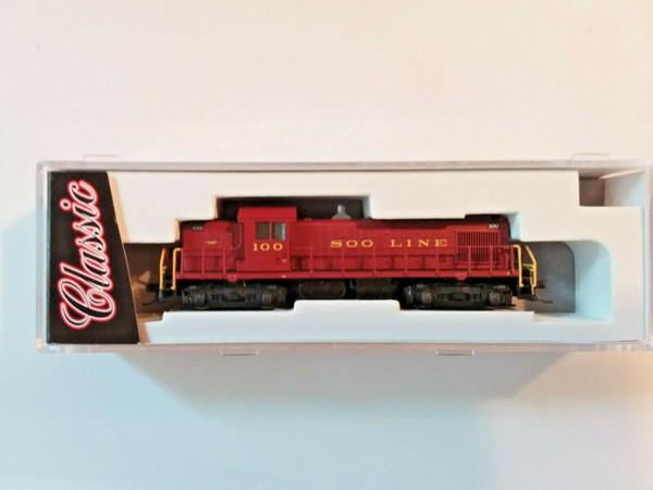 Atlas N #40001781 Alco RS1 - Standard DC - Classic -- Soo Line #100 (maroon)