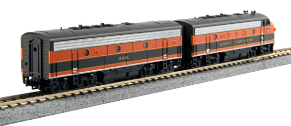 Kato EMD F7A/B Loco w/DCC Great Northern #444D, 444C