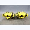2008-2013 BMW 90 E92 M3 1M ///M Rear Brake Caliper Pair w Brackets Yellow Paint - 30553