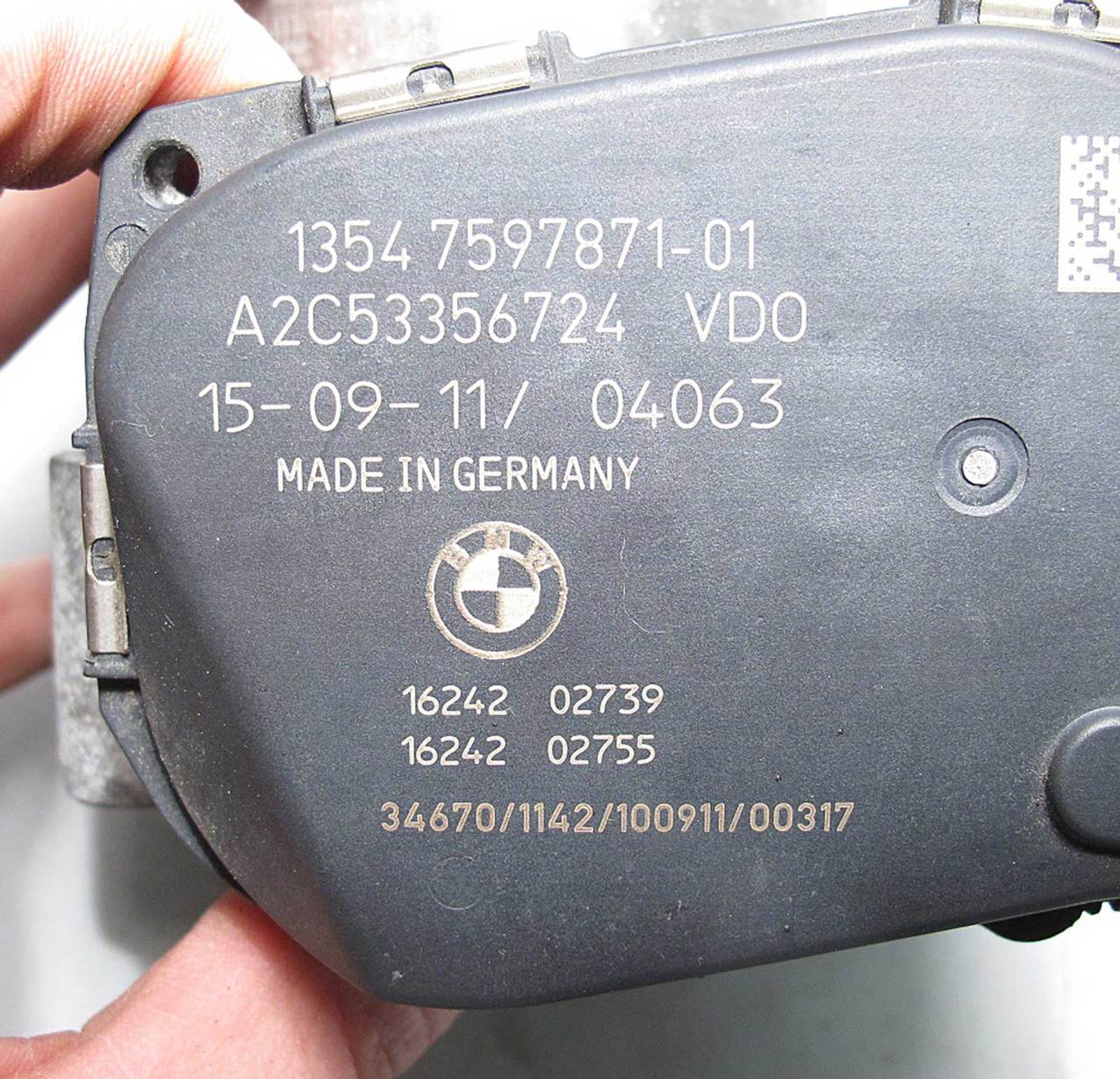 2011-2015 BMW N55 Turbo 6-Cyl Electronic Throttle Body Actuator E90 F30 F10 USED
