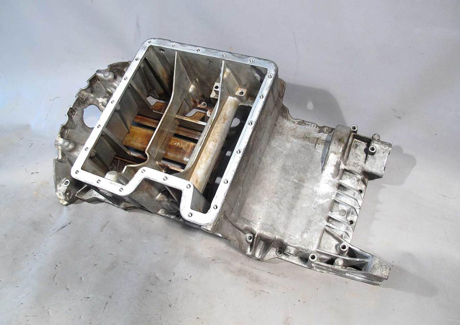 bmw e53 x5 4.4 v8 m62tu engine oil pan upper and lower w//baffle and level sensor