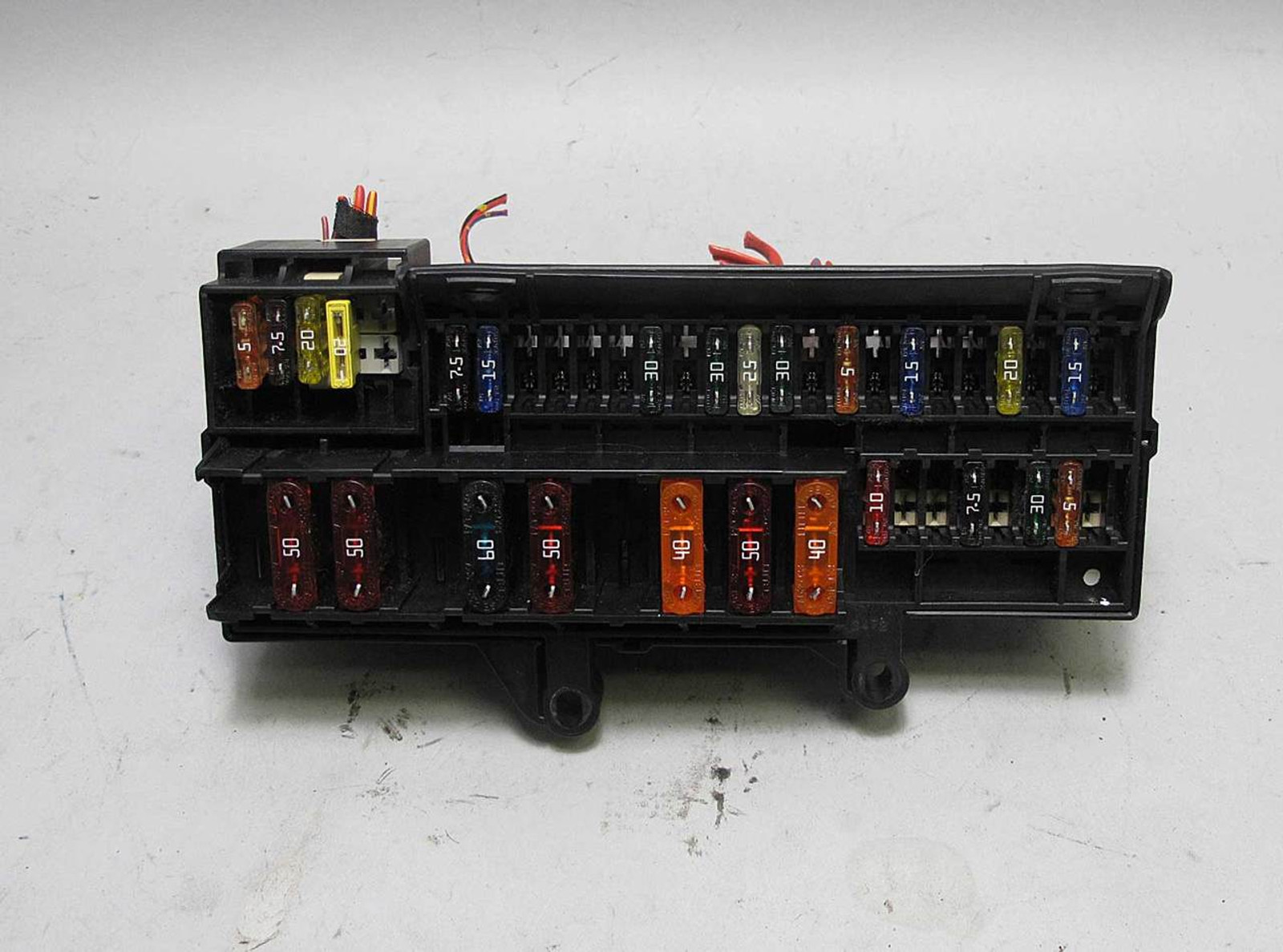 bmw e65 e66 7 series front glove box dashboard fuse box bmw 745i blue