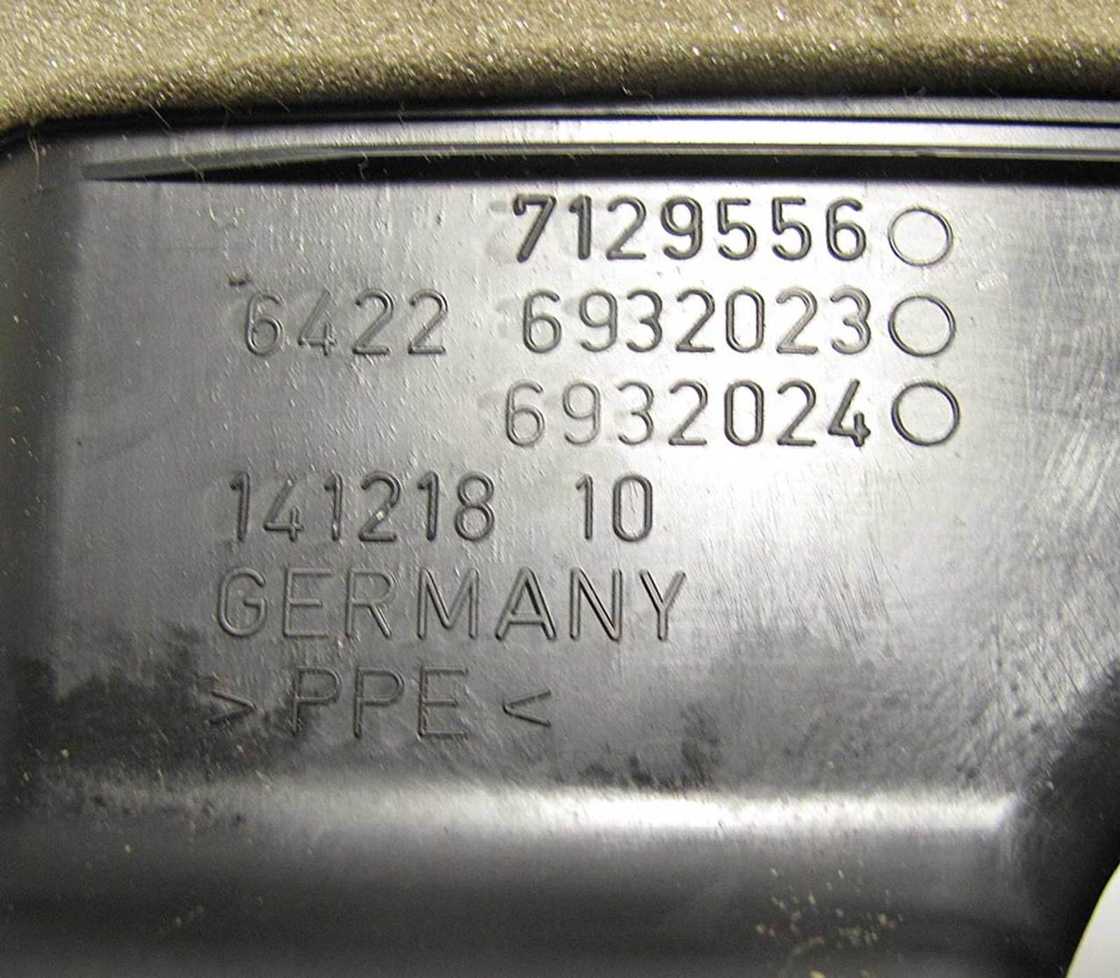 BMW E90 E91 3-Series Rear Center Console Fresh Air Vent