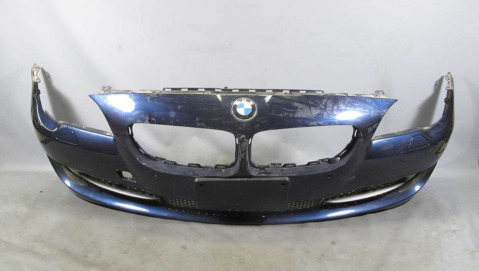 BMW F10 5-Series Early Factory Front Bumper Cover w Cracks Imperial Blue  PDC OEM
