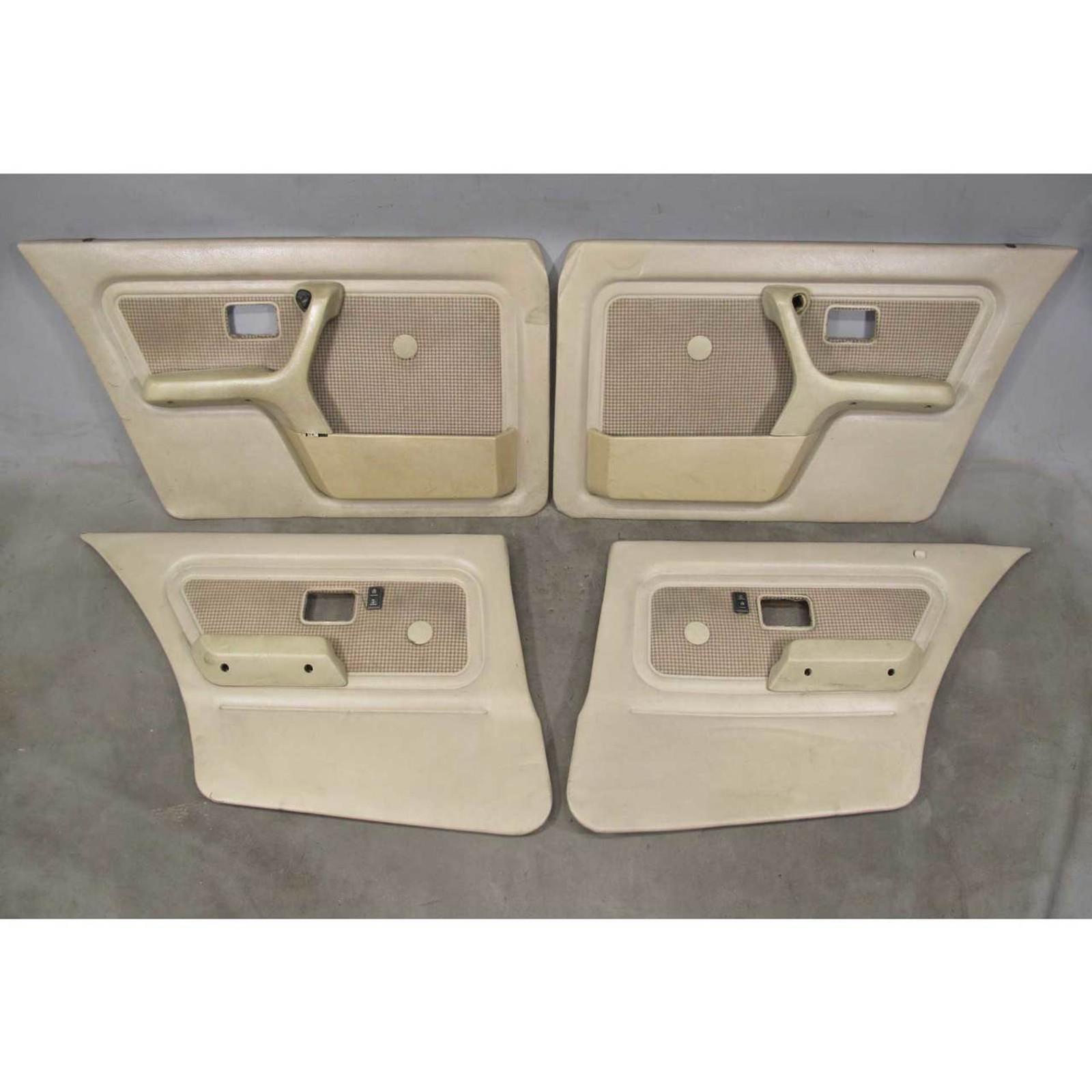 1986 1988 Bmw E30 3 Series Sedan Interior Door Panel Trim Skin Pair Beige Cloth Prussian Motors