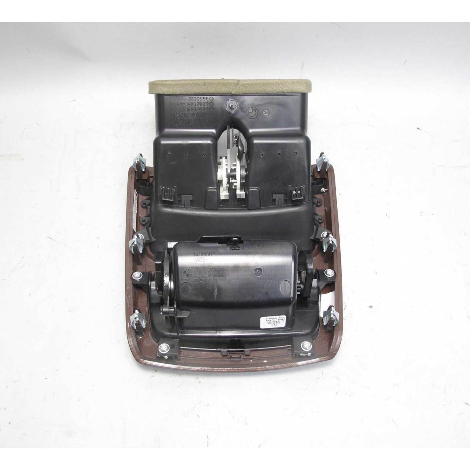 BMW E92 E93 3-Series 2door Rear Center Console Wood Trim Cover Walnut w  Vent OE