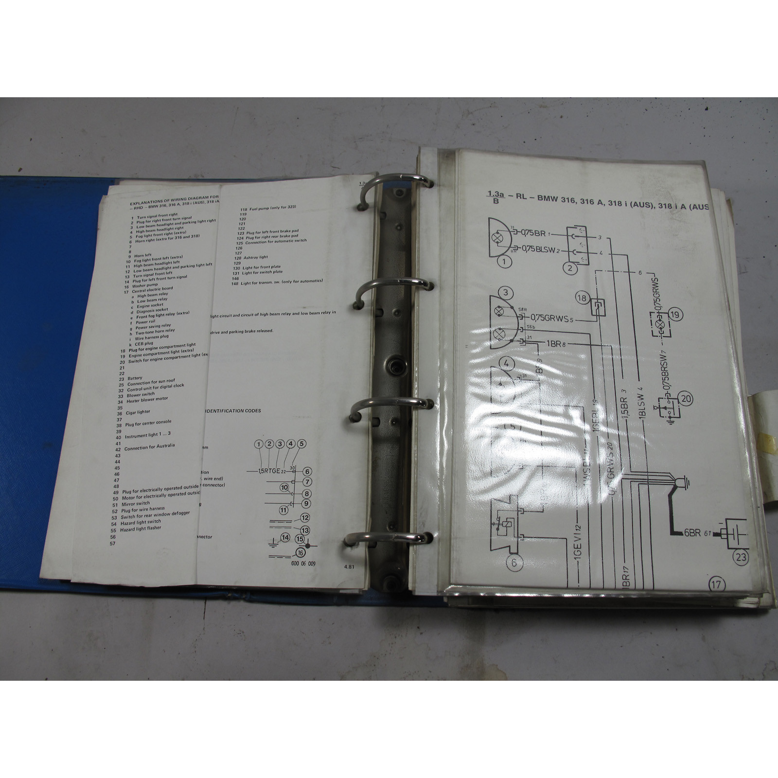 BMW General Electrical System Wiring Diagrams For 3 / 5 series 1979 +  Models - 23842