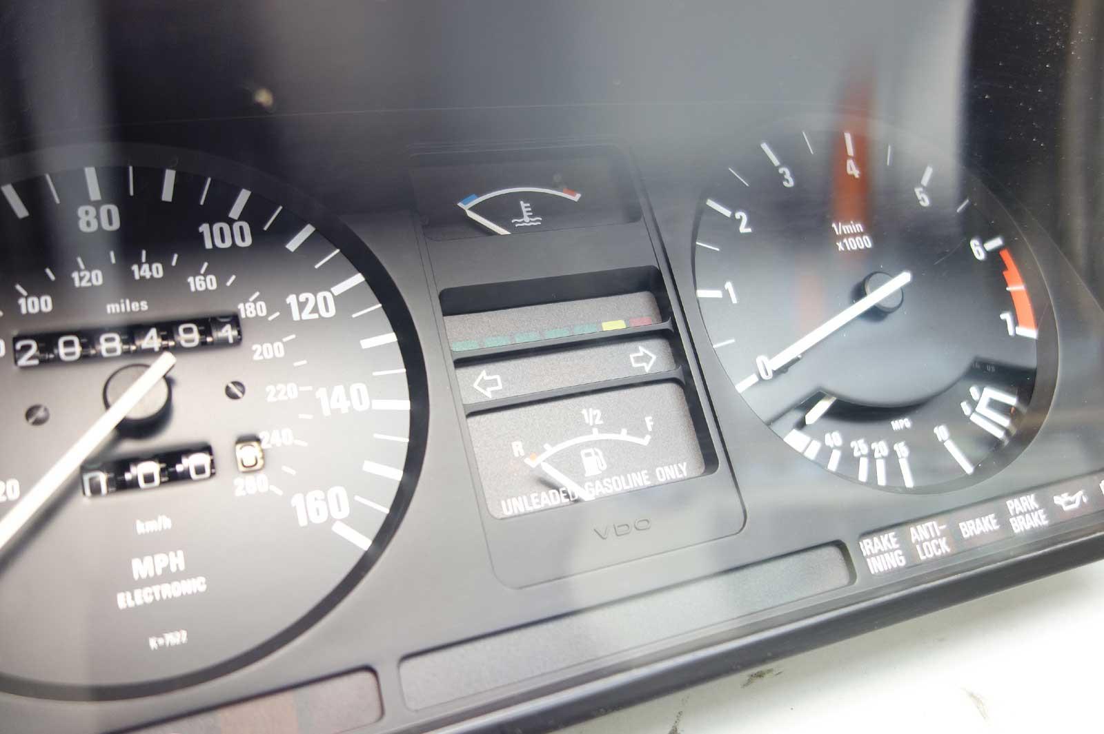 1986-1988 BMW E28 5-Series Instrument Gauge Cluster Panel Speedo Tach MPH  OEM - 24731