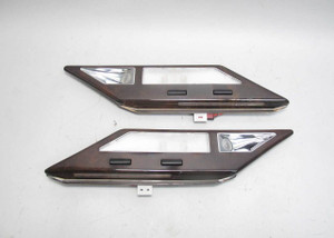 1995-2001 BMW E38 7-Series 750 Rear Interior Map Reading Lights w Wood USED OEM - 21549