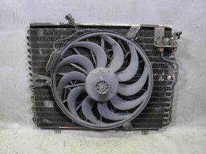 BMW E34 5-Series E32 AC Condenser w Auxiliary Electric Pusher Fan 1988-1995 USED - 12564