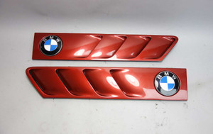 1996-2002 BMW Z3 Roadster Coupe Front Side Cowl Grille Pair Sienna Red 2 OEM - 26238