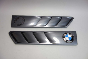 1996-2002 BMW Z3 Roadster Coupe Front Side Cowl Grille Pair Steel Grey OEM - 26826