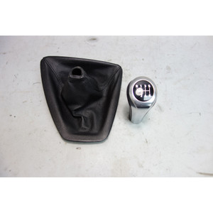 2007 BMW E92 E93 3-Series 6-Spd Shifter Knob and Boot 4 Manual Trans Pearl Grey - 28095