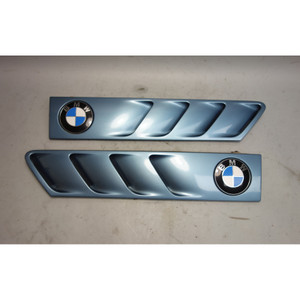 1996-2002 BMW Z3 Roadster Coupe Front Hood Side Cowl Grilles Atlanta Blue OEM - 28455