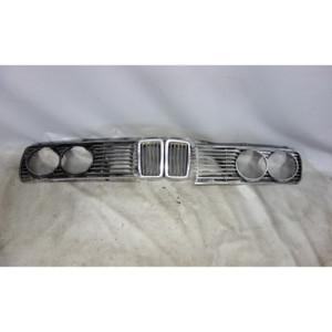 1982-1988 BMW E28 5-Series Front Headlight Kidney Grille Set 528e 535i OEM - 28869