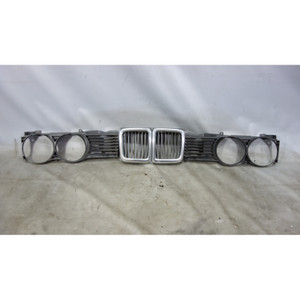 1988-1992 BMW E32 735i 735iL Front Factory Kidney Headlight Grille Set Narrow OE - 29169