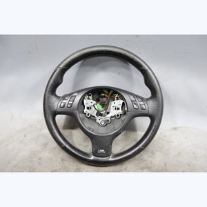 05-06 BMW E46 3-Series 2door M Sports Steering Wheel Perforated Leather OEM - 29607