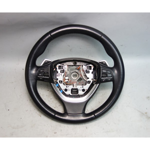 2011-2013 BMW F10 5-Series F01 Factory Sports Leather Steering Wheel w Paddles - 29612