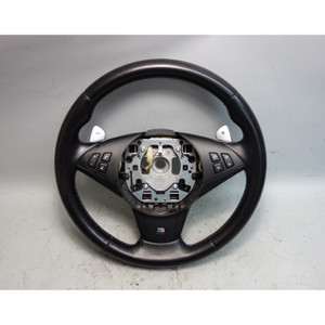 2006-2010 BMW E60 M5 E63 M6 Factory M Sports Leather Steering Wheel w Paddles OE - 29694