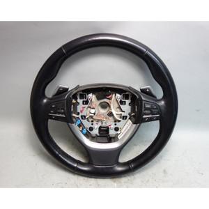 2011-2013 BMW F10 5-Series 7-Seires Factory Sports Steering Wheel w Paddles OEM - 29794