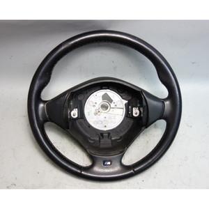 BMW Z3 ///M M Sports Leather 3-Spoke Steering Wheel Black 2000-2002 USED OEM - 29923