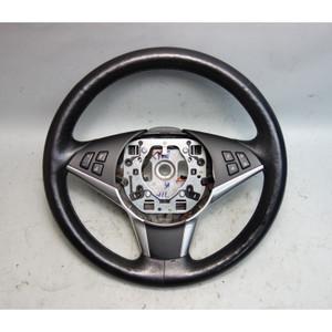 2006-2010 BMW E60 E61 5-Series Factory Sports Leather Steering Wheel w Heat OEM - 29942