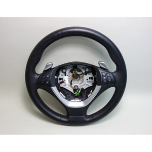 2008-2014 BMW E71 X6 SAC X5 Factory Sports Leather Steering Wheel w Heat Paddles - 30166