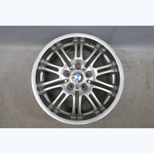 """2001-2006 BMW M3 Factory Front 18"""" M Double Spoke Style 67 Wheel Gun Metal Grey - 30322"""