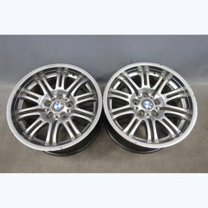 2001-2006 BMW E46 M3 ///M 18x9 Rear Double-Spoke Gun Metal Grey Alloy Wheel Pair - 30323