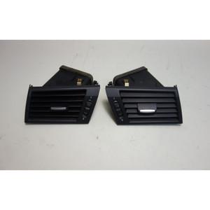 2007-2010 BMW E83 LCI Front Side Dash Fresh Air Vent Pair Left Right Black OEM - 30381