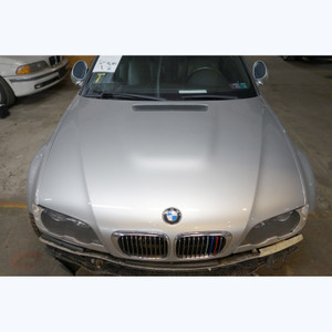 Damaged 2000-2006 BMW E46 3-Series 2door M3 Front Hood Bonnet Panel Titan Silver - 30402