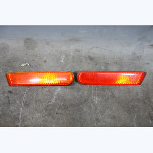 Damaged 1999-2002 BMW Z3 Rear Bumper Side Marker Red Reflector Pair NLA - 30471