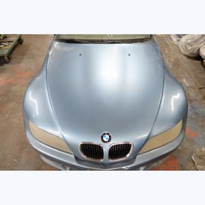 1996-2002 BMW Z3 Roadster Coupe Front Genuine Hood Panel Atlanta Blue Metallic - 30472