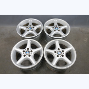 "1997-2002 BMW Z3 E36 Staggered 17"" Factory Style 18 Round-Spoke Alloy Wheel Set - 30506"