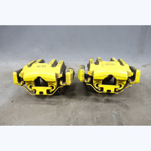 2008-2013 BMW 90 E92 M3 1M ///M Rear Brake Caliper Pair w Brackets Yellow Paint - 30553