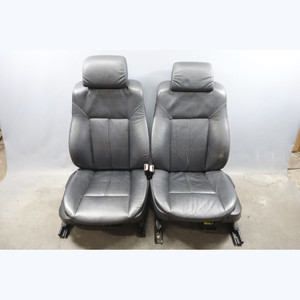 1998-2003 BMW E39 E38 5/7-Series Late Front Comfort Seats Black Leather Heated - 30569