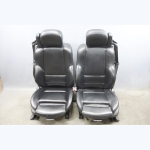2001-2006 BMW E46 M3 ///M Convertible Front Sports Seat Pair Black Leather OEM - 31056