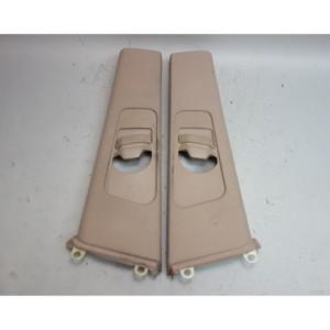 2000-2001 BMW E46 3-Series Coupe Interior B- Pillar Column Covers Beige OEM - 31068
