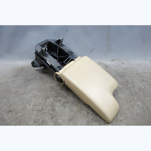 1999-2006 BMW E46 3-Series Front Center Console Armrest Light Beige Leather OEM - 31090
