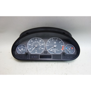 2001 BMW E46 330i 330Ci Early Instrument Gauge Cluster Speedo Tach Chome Rings - 31106