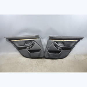 2000-2003 BMW E39 M5 Rear Interior Door Panel Trim Skin Pair Black Ostrich OEM - 31122