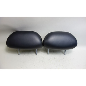 BMW E39 5-Series Sedan Factory Rear Seat Headrest Pair Black Ostrich Leather OEM - 31129