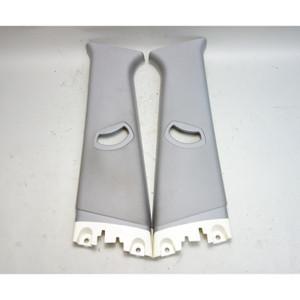 2006-2010 BMW E83 X3 SAV Interior B- Pillar Column Upper Covers Light Grey OEM - 31153