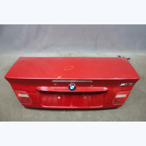 Damaged 2000-2006 BMW E46 3-Series Convertible Trunk Deck Boot Lid Imola Red OEM - 30667