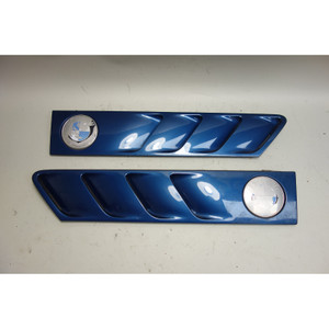1996-2002 BMW Z3 Roadster Coupe Front Hood Side Cowl Grilles Topaz Blue OEM - 30900