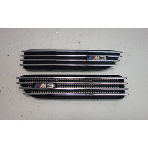 BMW E46 ///M M3 Front Side Fender Cowl Grille Vent Pair Chrome 2001-2006 OEM - 30993